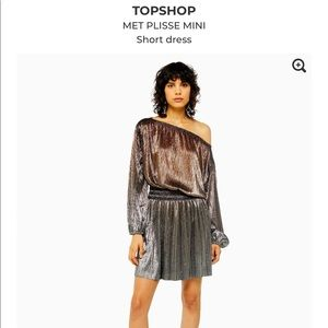 Top shop Met Plisse mini dress size 4